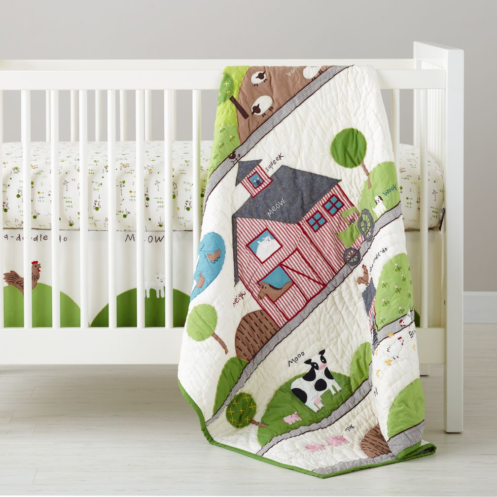 With a Moo Moo Here Crib Bedding