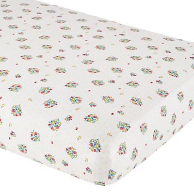 Crib Fitted Sheet (Strawberry Print)
