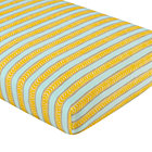 Elephants Stripe Crib Fitted Sheet