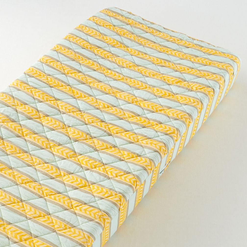Changer Pad Cover (Yellow/Lt. Blue Stripe)