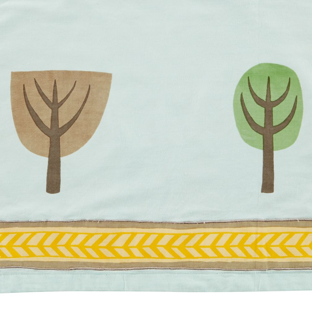 Reversible Crib Skirt (Tree Print)