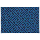 4 x 6' Blue Locking Blocks Rug