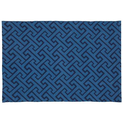 8 x 10' Locking Blocks Rug (Blue)