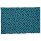 4 x 6&amp;#39; Teal Locking Blocks Rug