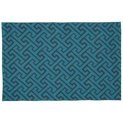5 x 8'  Locking Blocks Rug (Teal)