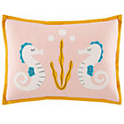 Cover Only Seahorse Throw Pillow