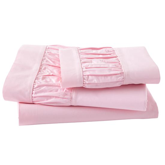 Girls Bedding: Pink Scalloped Bedding Set in Girl Bedding | The ...