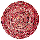 5&amp;#39; dia. Pink Ribbon Rug