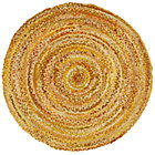 5&amp;#39; dia. Yellow Ribbon Rug