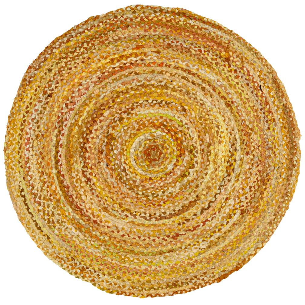 5' dia. Yellow Ribbon Rug