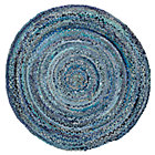 5&amp;#39; dia. Blue Ribbon Rug