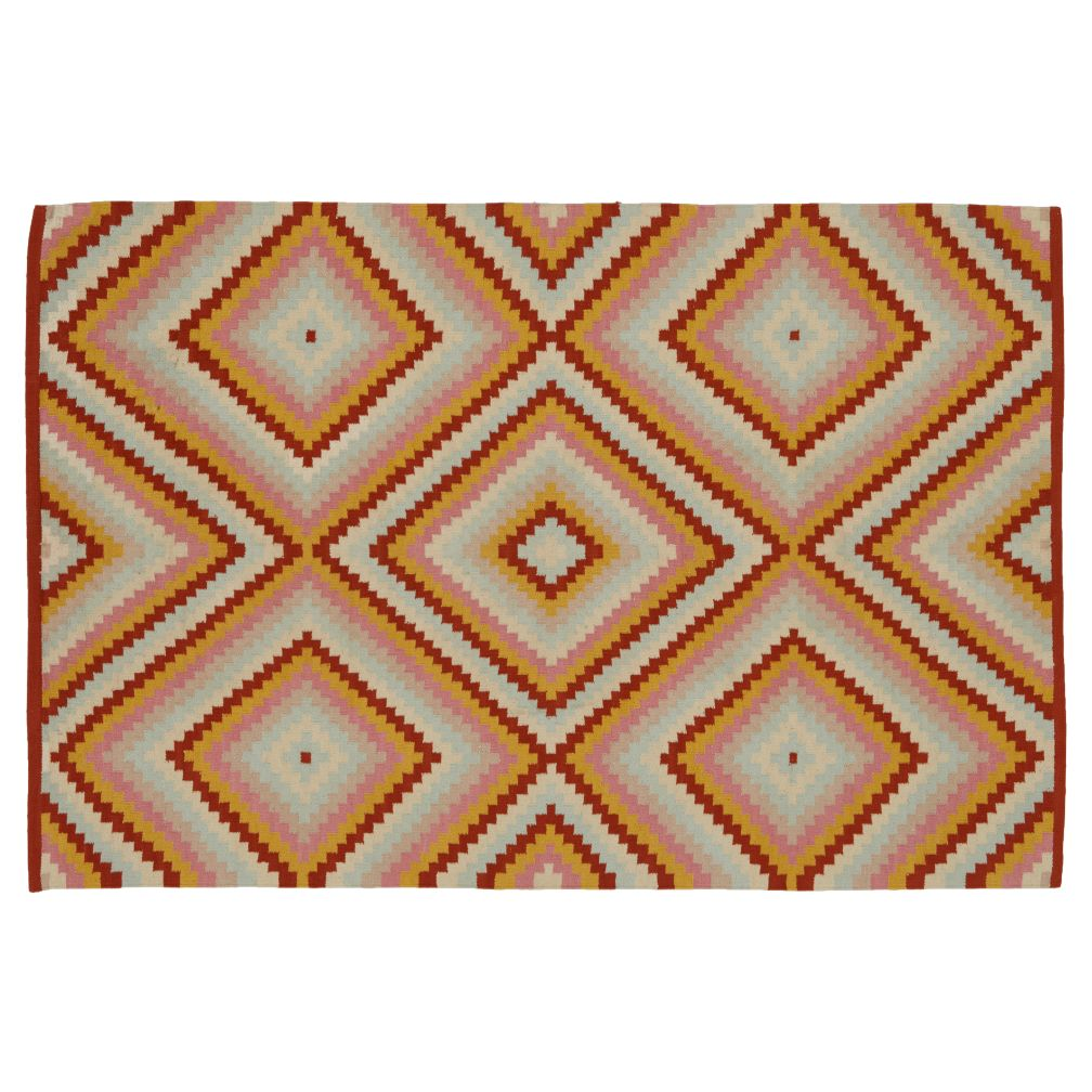 Step Cut Diamond Rug