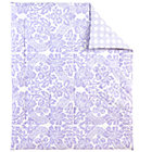 Lavender Floral/Lattice Reversible Crib Blanket
