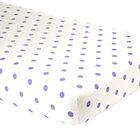 Lavender Dot Crib Fitted Sheet