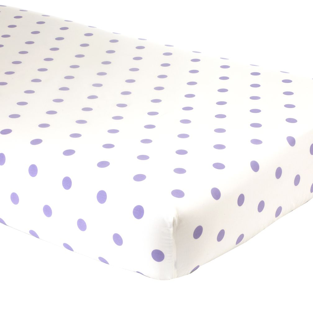 Crib Fitted Sheet (Lavender Dot)