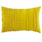 Yellow Ruffle Throw Pillow Cover