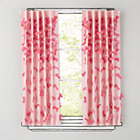 "84"" Pink Bow Tied Curtain Panel(Sold individually)"