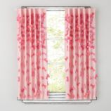 "84"" Bow Tied Curtain Panel (Pink)"