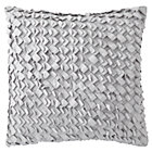 Grey Basketweave Throw Pilow Cover
