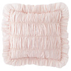 Rouched Antique Chic Pink Throw Pillow Cover