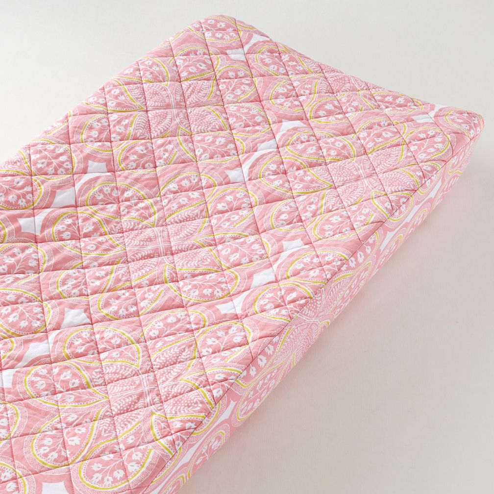 Mosaic Paisley Changer Pad Cover (Pink Paisley)