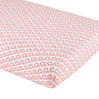 Pink Mosaic Print Crib Fitted Sheet