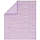 Lavender Mosaic Paisley Crib Blanket