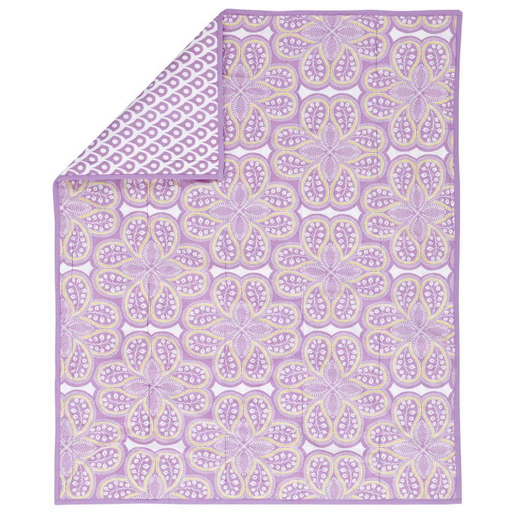 Mosaic Crib Blanket (Lavender)