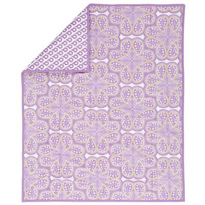 Mosaic Paisley Crib Blanket (Lavender)