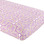 Lavender Floral Print Crib Fitted Sheet