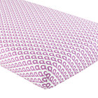 Lavender Diamond Print Crib Fitted Sheet