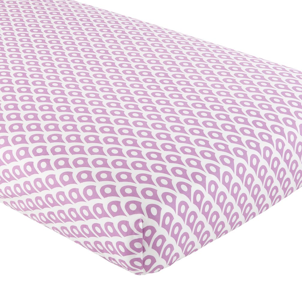 Crib Fitted Sheet (Lavender Diamond)