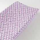 Lavender Diamond Print Changing Pad Cover