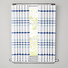 "63"" Blue Wide Ruled Curtain Panel (Sold Individually)"