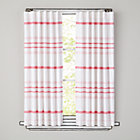"84"" Pink Wide Ruled Curtain Panel(Sold individually)"