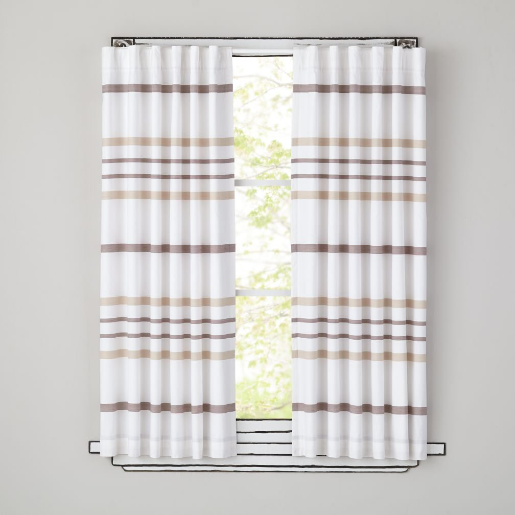 84&quot; Wide Ruled Curtain Panel (Khaki)