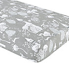 Grey Fairytale Print Crib Fitted Sheet