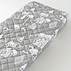 Grey Fairytale Print Changing Pad Cover