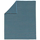 Zig Zag Blue Knit Throw Blanket