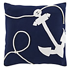 Oh Buoy Anchor Throw Pillow Cover
