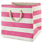 Pink Stripes Around the Cube Bin