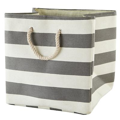 Stripes Around the Floor Bin (Grey)