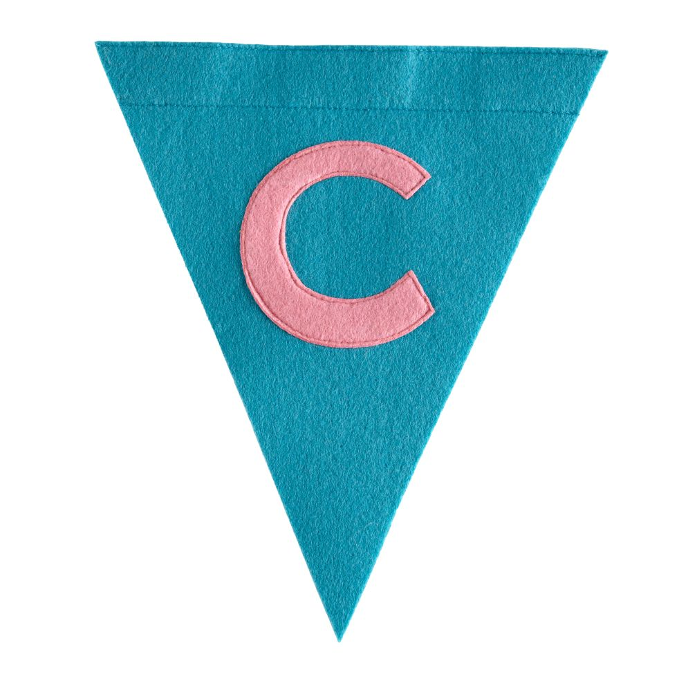 C Print Neatly Pennant Flag (Girl)