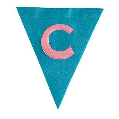 C Print Neatly Pennant Flag (Girl)