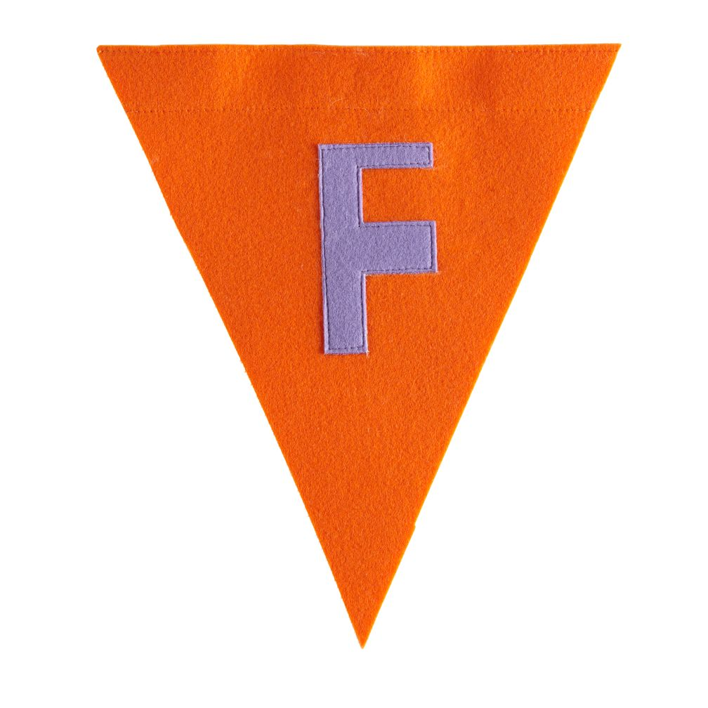 F Print Neatly Pennant Flag (Girl)