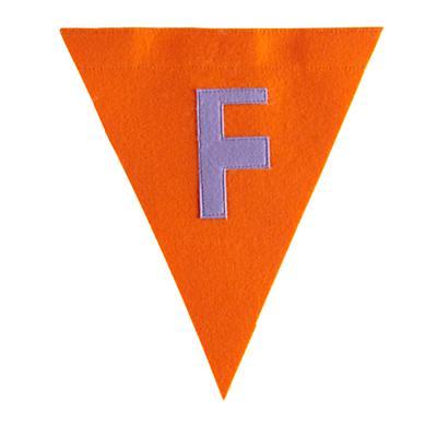 F Print Neatly Pennant Flag (Girl)