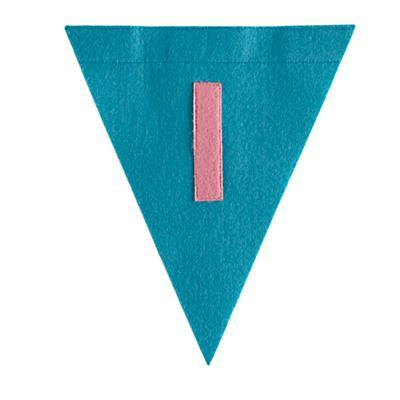 I Print Neatly Pennant Flag (Girl)