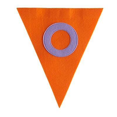 O Print Neatly Pennant Flag (Girl)