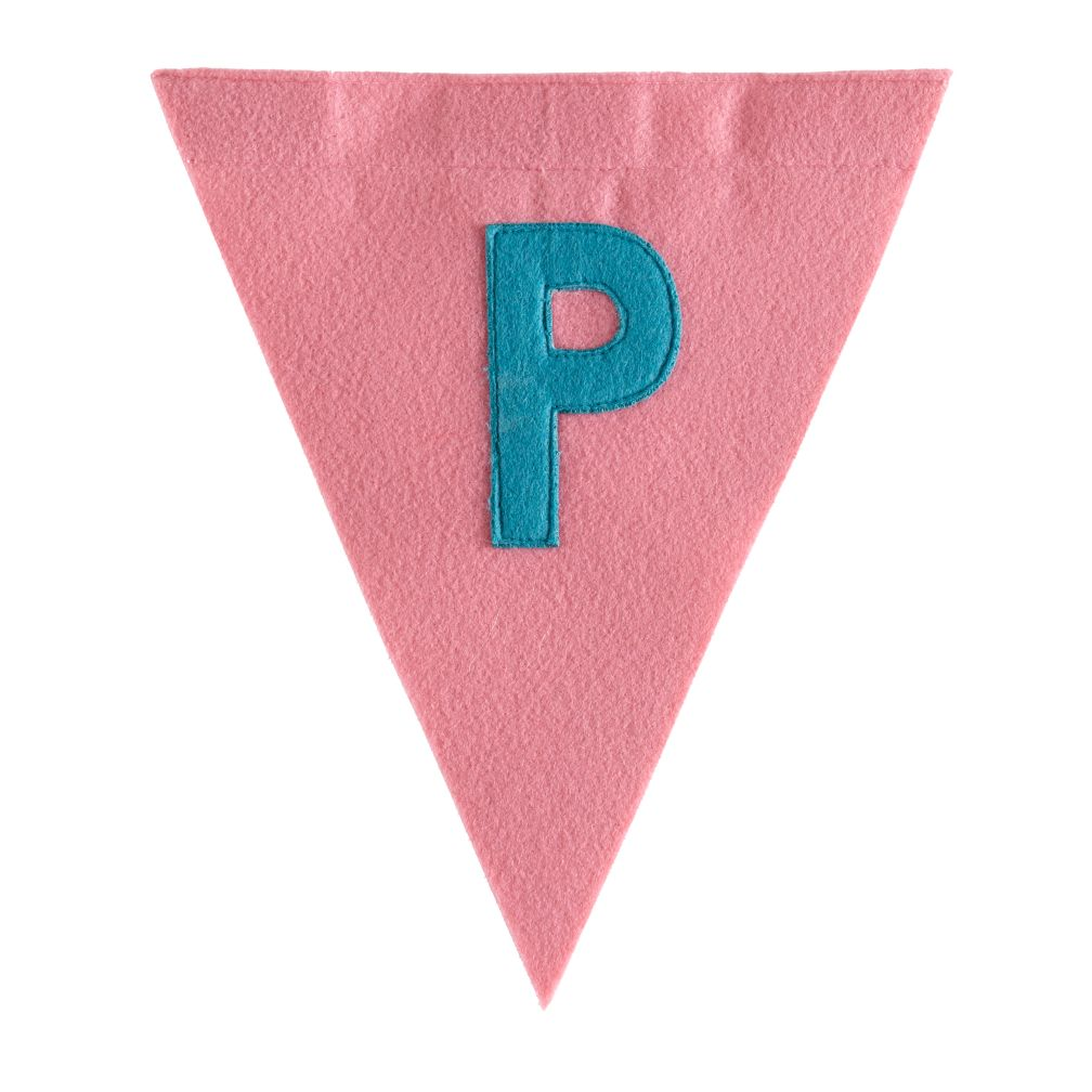 P Print Neatly Pennant Flag (Girl)