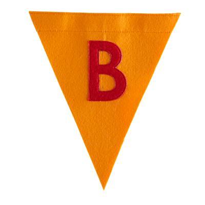 B Print Neatly Pennant Flag (Boy)